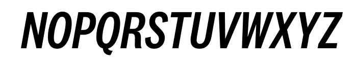 National 2 Condensed Medium Italic Font UPPERCASE