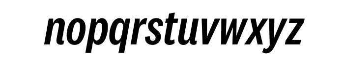 National 2 Condensed Medium Italic Font LOWERCASE