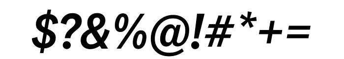 National 2 Narrow Medium Italic Font OTHER CHARS