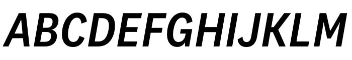 National 2 Narrow Medium Italic Font UPPERCASE