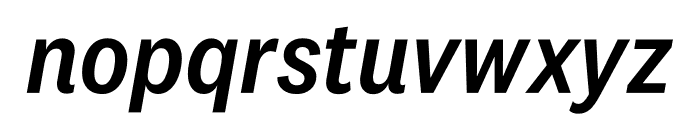 National 2 Narrow Medium Italic Font LOWERCASE