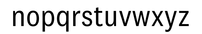 National 2 Narrow Regular Font LOWERCASE