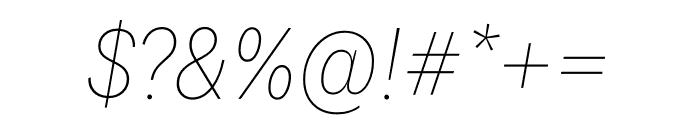 National 2 Narrow Thin Italic Font OTHER CHARS