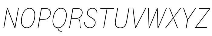 National 2 Narrow Thin Italic Font UPPERCASE