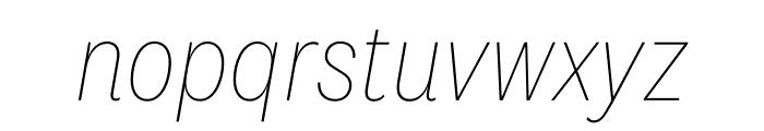 National 2 Narrow Thin Italic Font LOWERCASE