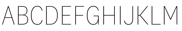 National 2 Narrow Thin Font UPPERCASE