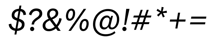 National 2 Regular Italic Font OTHER CHARS