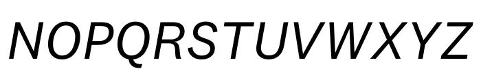 National 2 Regular Italic Font UPPERCASE
