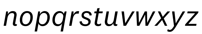 National 2 Regular Italic Font LOWERCASE