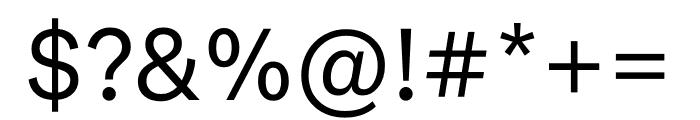 National 2 Regular Font OTHER CHARS