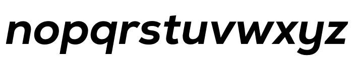 Nexa Extra Bold Italic Font LOWERCASE