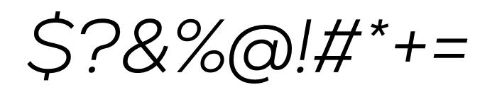 Nexa Light Italic Font OTHER CHARS