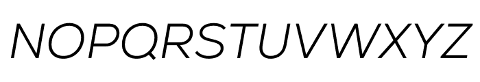 Nexa Light Italic Font UPPERCASE
