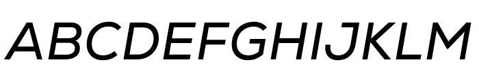 Nexa Regular Italic Font UPPERCASE