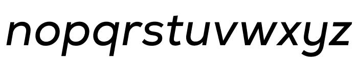 Nexa Regular Italic Font LOWERCASE