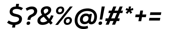 Nexa Text Bold Italic Font OTHER CHARS