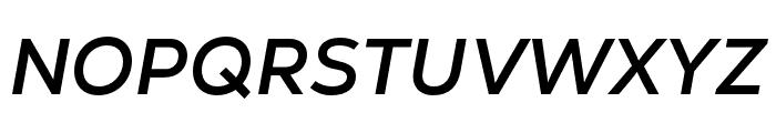 Nexa Text Bold Italic Font UPPERCASE