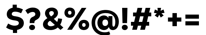 Nexa Text Heavy Font OTHER CHARS