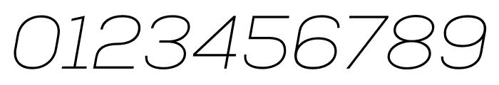 Nexa Thin Italic Font OTHER CHARS