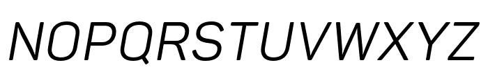 Panton Regular Italic Font UPPERCASE