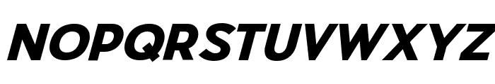 Pier Sans Black Italic Font UPPERCASE