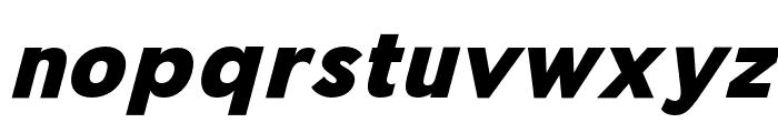 Pier Sans Black Italic Font LOWERCASE