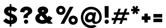 Pier Sans Black Font OTHER CHARS