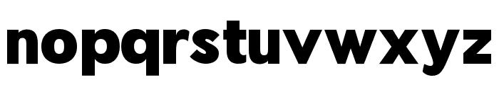 Pier Sans Black Font LOWERCASE