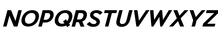 Pier Sans Bold Italic Font UPPERCASE