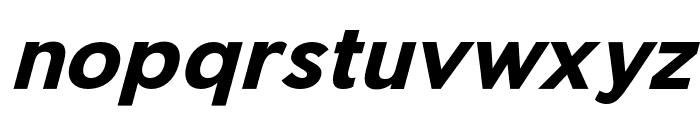 Pier Sans Bold Italic Font LOWERCASE