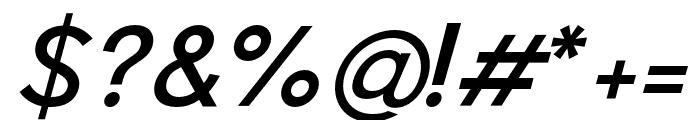 Pier Sans Italic Font OTHER CHARS