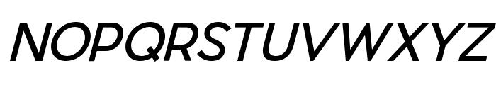 Pier Sans Italic Font UPPERCASE
