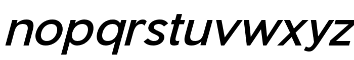 Pier Sans Italic Font LOWERCASE