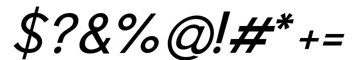 Pier Sans Light Italic Font OTHER CHARS