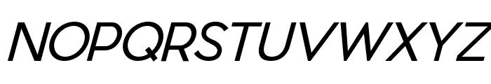 Pier Sans Light Italic Font UPPERCASE