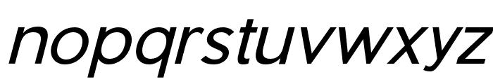 Pier Sans Light Italic Font LOWERCASE