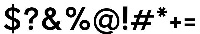Pier Sans Medium Font OTHER CHARS