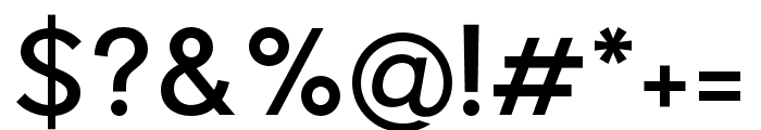 Pier Sans Regular Font OTHER CHARS