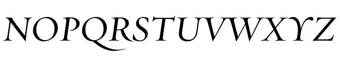 Requiem DisplayItalic Font UPPERCASE