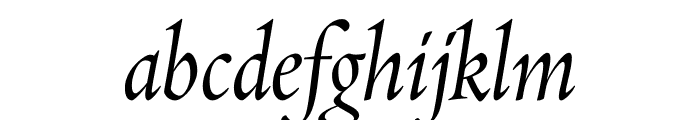 Requiem DisplayItalic Font LOWERCASE