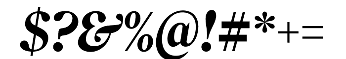Roslindale Deck Narrow Bold Italic Font OTHER CHARS