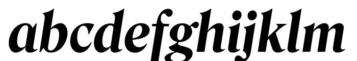 Roslindale Deck Narrow Bold Italic Font LOWERCASE