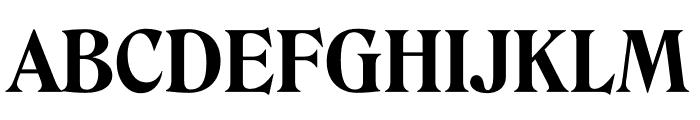 Roslindale Deck Narrow Bold Font UPPERCASE