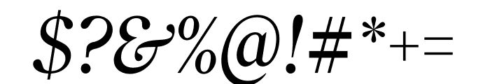 Roslindale Deck Narrow Italic Font OTHER CHARS
