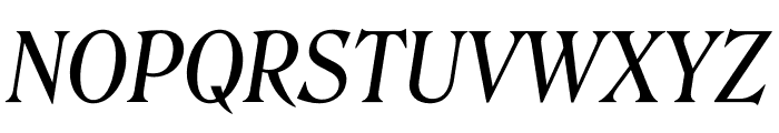 Roslindale Deck Narrow Italic Font UPPERCASE