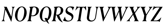 Roslindale Deck Narrow Medium Italic Font UPPERCASE