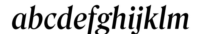 Roslindale Deck Narrow Medium Italic Font LOWERCASE