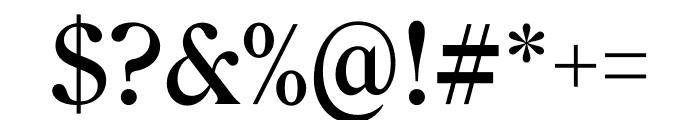 Roslindale Deck Narrow Medium Font OTHER CHARS