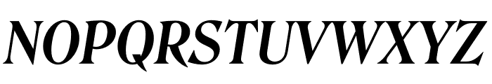 Roslindale Deck Narrow Semi Bold Italic Font UPPERCASE