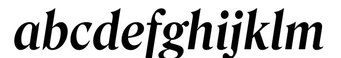 Roslindale Deck Narrow Semi Bold Italic Font LOWERCASE